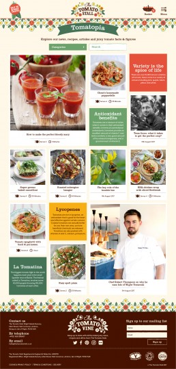 Tomatopia Grid page layout
