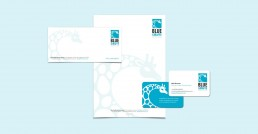 Blue Giraffe Services Stationery Design