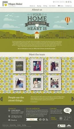 Megan Baker Estate Agents Website Design about