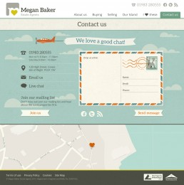 Megan Baker Estate Agents Website Design Contact