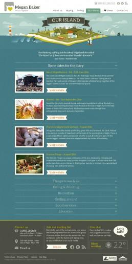 Megan Baker Estate Agents Website Design our Island