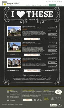 Megan Baker Estate Agents Website Design favourite