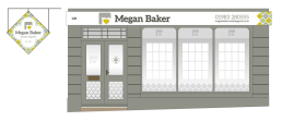 Megan Baker Estate Agents shop front design