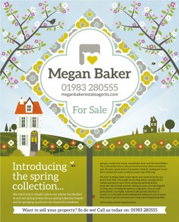 Megan Baker Estate Agents spring advert design