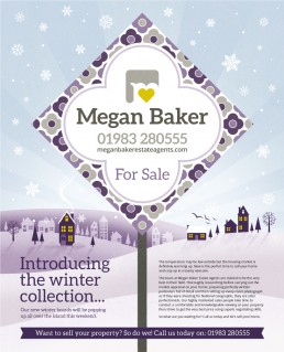 Megan Baker Estate Agents winter advert design