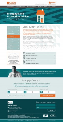 Rouse Limited Website Design Mortgage advice