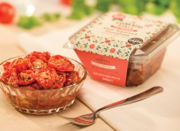 The Tomato Stall Roasted tomatoes packaging design