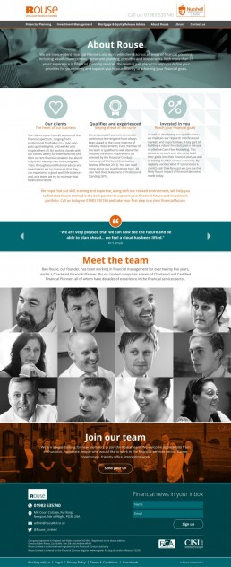 Rouse Limited Website Design About