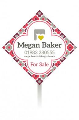Megan Baker Estate Agents Sale Board Summer Palette