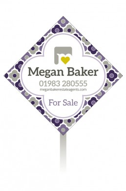 Megan Baker Estate Agents Sale Board Winter Palette