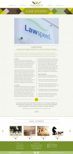 Wentworth Consultancy website design case study