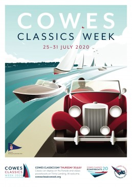 Cowes Classics Week Poster Design