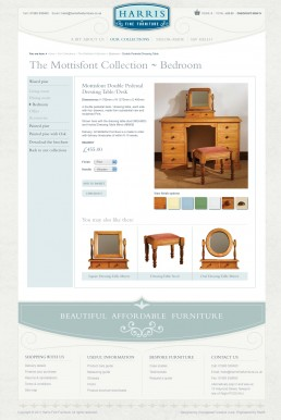 Harris Fine Furniture website design
