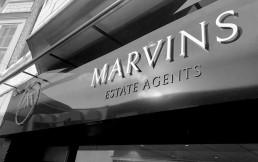 Marvins Estate Agents external signage