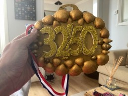 Hand made medal for marathon 32