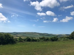 Marathon 35, view from the top of the downs