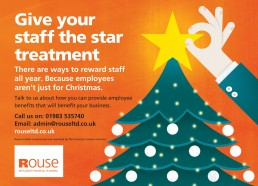 Give your staff the star treatment press advert