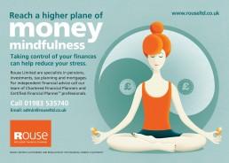 Reach a higher plane of money mindfulness press advert
