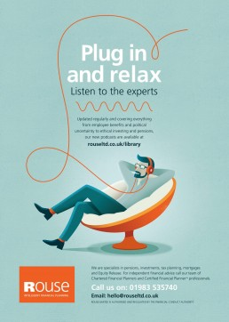 Plug in and relax press advert