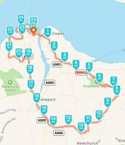 Marathon 37 Route