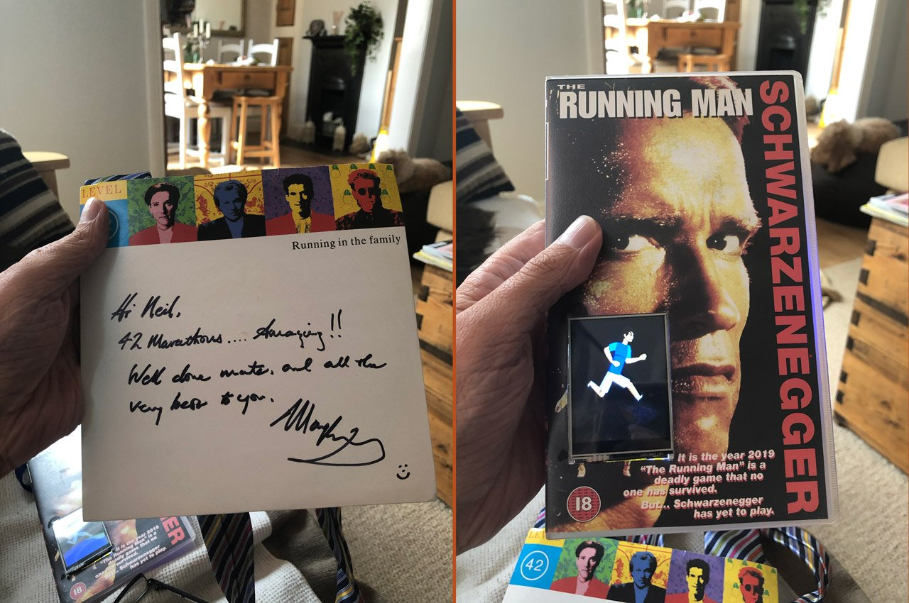 signed copy of Running in the family