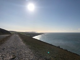 Looking towards Compton Bay