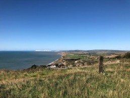 Looking back towards Freshwater Bay
