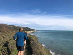Running towards Ventnor